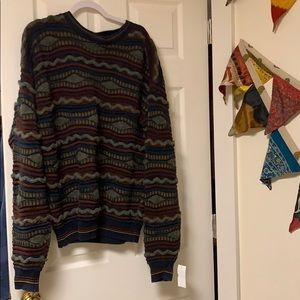Vintage 3D knit coogi style sweater